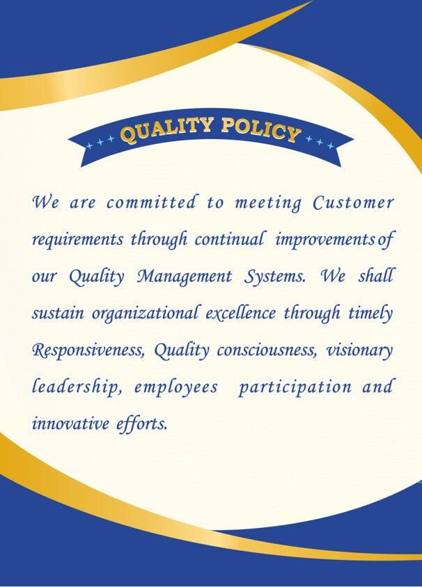 I.S.International-Quality policy